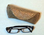 Eyeglass or Sunglass Case - Golden Copper Bling
