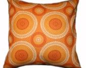 "Orange Pillow Cover 18"" x 18"""