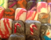Felted Goat Milk Soap Bars, Assorted Scents