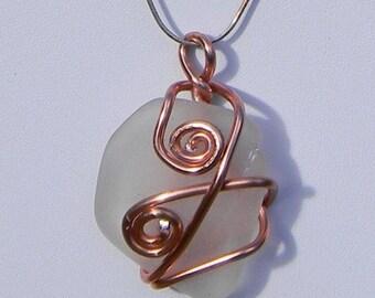 Copper Seaglass Pendant