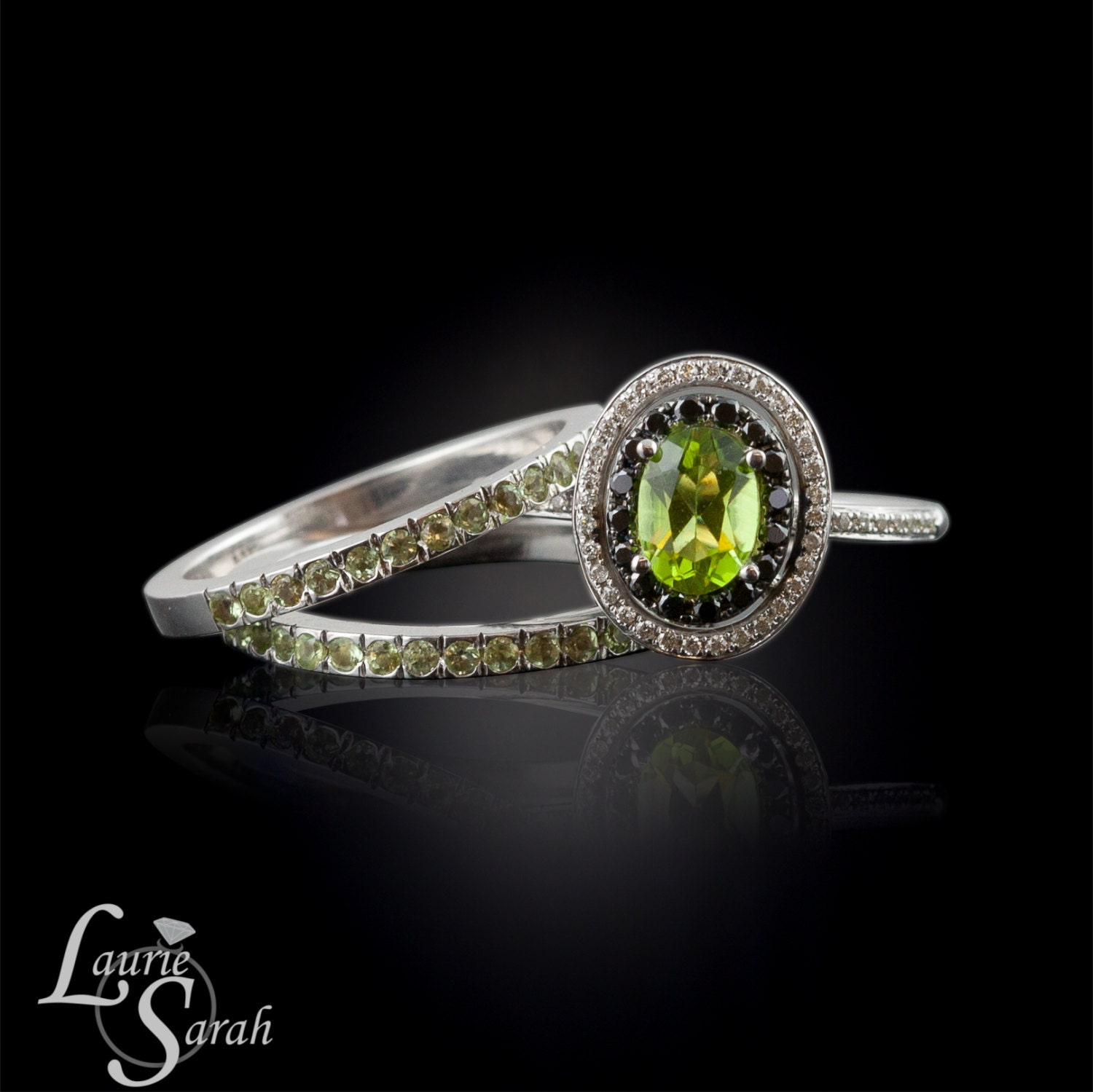 engagement rings peridot and black diamond engagement ring. Black Bedroom Furniture Sets. Home Design Ideas