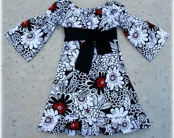 Custom Boutique Fall Zesty Zennia Peasant Dress Size 12 18 24 2t 3t 4t 5t 6 7  girl