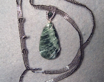 Jude, wire-wrapped and beadwoven necklace