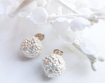 round ball sterling earrings