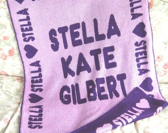 Personalized Reversible Baby Blanket