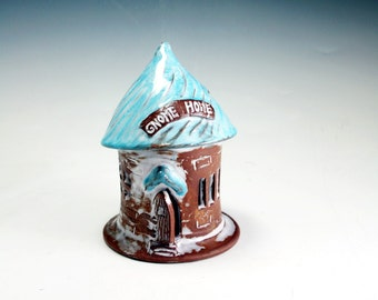 Pottery Fairy House Gnome Home  Fairy Garden House