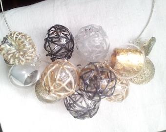 solids, lines, textures necklace