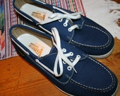 Vintage new stock  Viner  blue canvas womens size 8 and a half M like new made in the USA