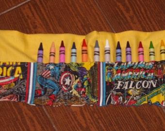 Captain America crayon roll