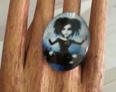 HairStylist Adjustable Pretty Punk Rock Ring