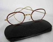 Vintage Glasses, Gold Filled Shur-On Spectacles with Case, Vintage Eyeglasses
