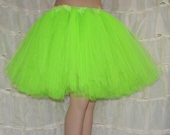 Lime Green Romance Knee Length TuTu skirt adult All Sizes MTCoffinz