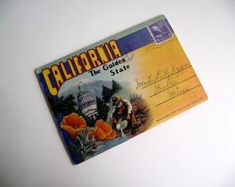 California 1950s Souvenir Post Card Book