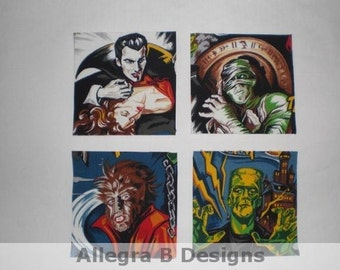 Horror Monster Movie Iron On Patches Applique DIY No Sew