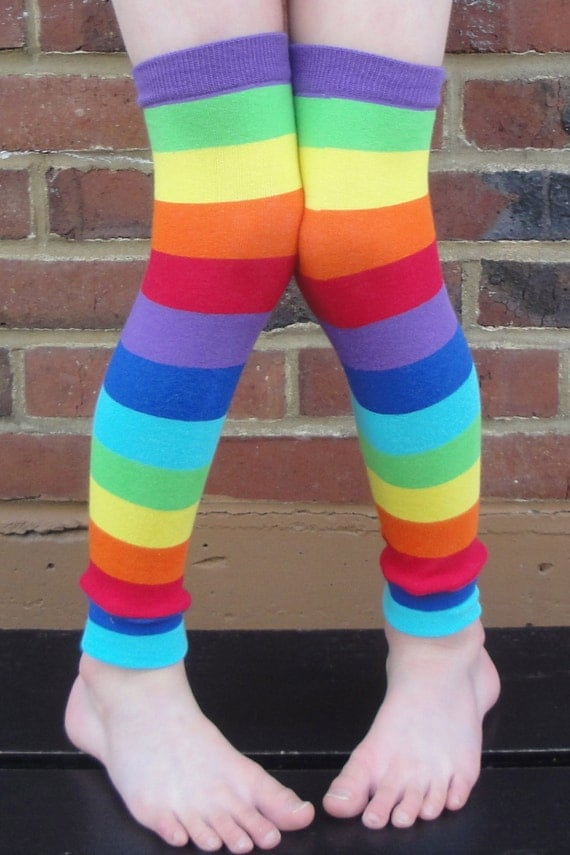 Rainbow Stripe Leg Warmers - Arm Warmers - Leggings for Infant, Toddler, Kid and Tween - Gift for Boy or Girl - Fun and Functional Fashion