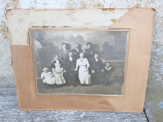 Vintage Antique 1900 old French wedding black & white photography