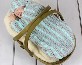 CROCHET PATTERN For Pleated Cocoon, Papoose & Hat in 3 Sizes PDF 231 Digital Download