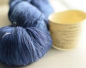 Tardis blue Sweetly Lace 70% superwash merino, 30 silk, hand dyed