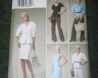 Vogue Misses Jacket/Top/Dress/Skirt/Pants Sz 14-20  V8718  Uncut