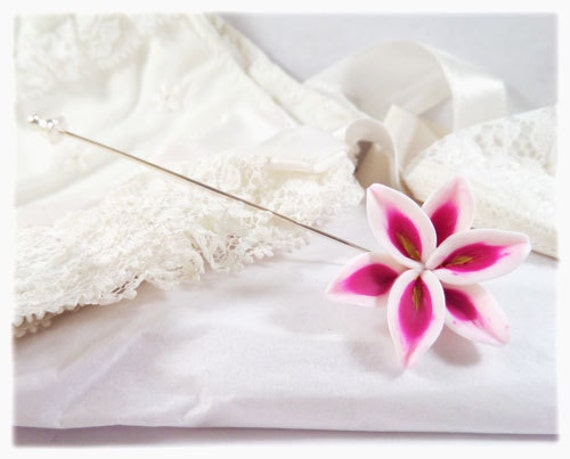 Lily Lapel Stick Pin - Lily Brooch, More Colors