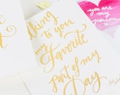 Gold Foil Inspirational Quote ~ Greeting Card