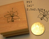 P58 tiny flower miniature  rubber stamp