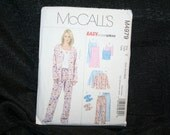 UNCUT McCalls 4979 Misses' Top, Camisole, Pants Pajamas, Slippers Sewing Pattern SEWBUSY12