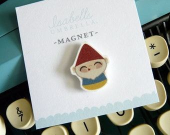 Illustrated Gnome Handmade Magnet