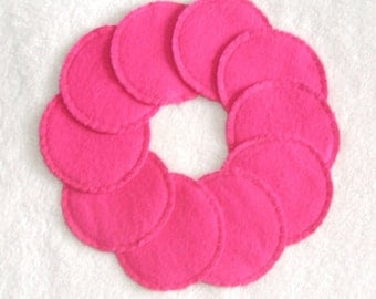 Reusable Cotton Rounds Make-up Remover Pads Dark Pink Washable cosmetic