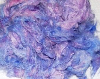 Angora Rabbit, German Giant, Down, Fur, Loose Fiber, Spinning Fiber, Felting Fiber, Hand Dyed Rabbit Fur, Lilac and Pink 1 oz.