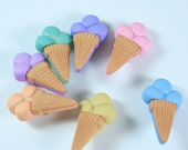 Triple Scoop Ice Cream Novelty Buttons