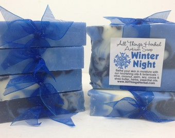 Winter Night Handmade Soap - Cold Process Herbal Soap