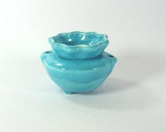 Miniature African Violet Pot Caribbean Blue