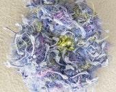 Cornflower Blue Crochet Flower Pin - Periwinkle Crochet Flower Brooch