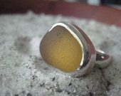 Sunny Day...yellow sea glass ring