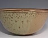 Serving Bowl - Handmade Bowl - Brown Bowl - Green Bowl - Ceramic Bowl - 925-11