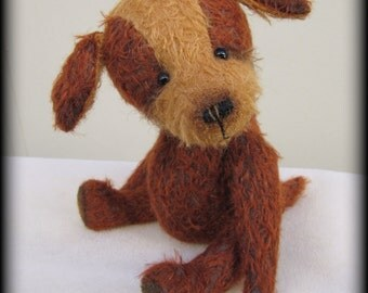 """FIDO - mohair artist teddy dog KIT - 9"""" tall when completed"""