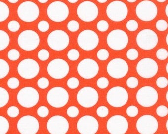 SALE Fabric, Orange fabric, Spot On Dot fabric by Robert Kaufman-Spot on Multi Dot in Tangerine, Choose your cut