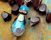 Brass Bell Bead Caps - 6mm x 5mm - Hand Antiqued Brass - Patina Queen - 6 grams
