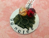 Hand Stamped Florida State Go Noles Necklace