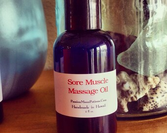 Sore Muscle Massage Oil 2oz