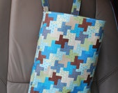 Multi-purpose hanging wet bag / trash bag Fabric options