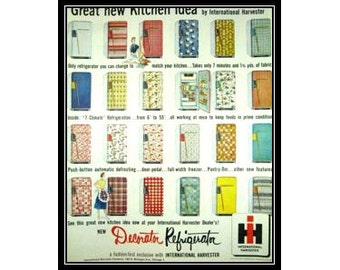 Popular items for kitchen sewing on etsy for International harvester room decor