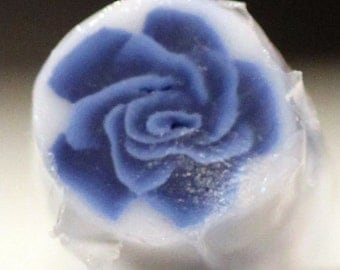 Navy Blue Rose, Polymer Clay Flower Cane, Midnight Blue Millefiore Raw Unbaked