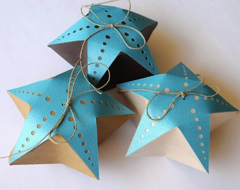 Set of 10 Starfish Pillow Beach Themed Boxes - Wedding/Party Favor