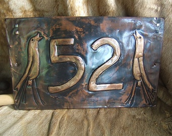 Craftsman Style Bird House Number Plaque