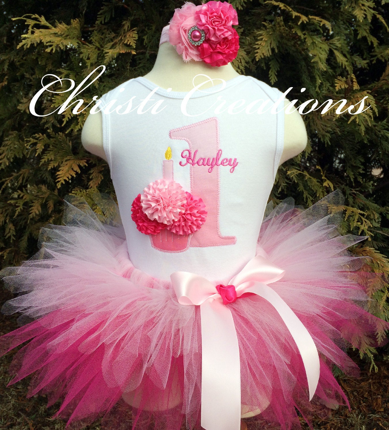 Baby Girl 1st Birthday Tutu Outfit Pink Tutu By