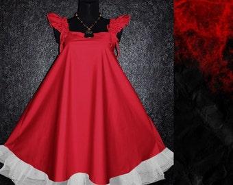 Cute Harajuku Visual Kei Japan Tokyo Style Lolita red DRESS Plus Size 16 18 1x gothic