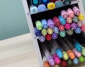 Compact Marker Storage Organizer for Crafters and Scrapbookers
