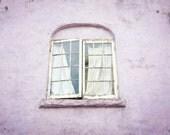 San Francisco photograph - window architecture art - pastel pale purple art print - bedroom wall art - old window 'Lilac Window'